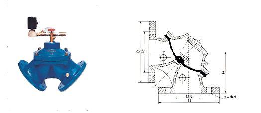 角式隔膜排泥阀,内部具有特殊强化隔膜片图片