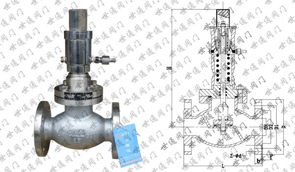 氨用紧急切断阀概述:         氨用紧急切断阀是一种危险品.图片