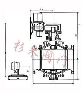 固定式电动球阀 结构图