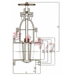 暗杆闸阀结构图_z45t灰铸铁暗杆闸阀