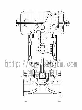 气动隔膜调节阀结构图