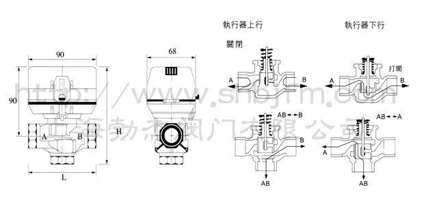 v6013-电动二通阀图片