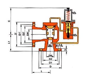 产品库 阀门 安全阀 单双杠杆安全阀 a46h 先导式安全阀       一图片
